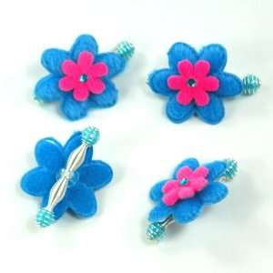 Blue and Pink / Baby / Toddler/ Girls Flower Shaped Spring