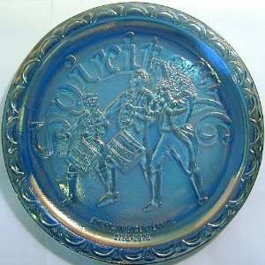 Indiana Glass Spirit of 76 blue carnival glass plate