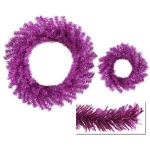 Tinsel Artificial Christmas Wreaths   10 & 18