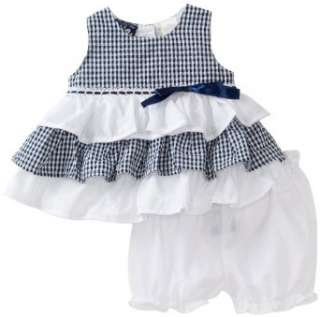 So La Vita Baby girls Infant 3 Tier Dress with Lace Clothing