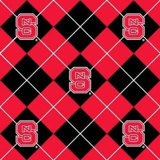 Fleece North Carolina State University Argyle Fabric By The Yard
