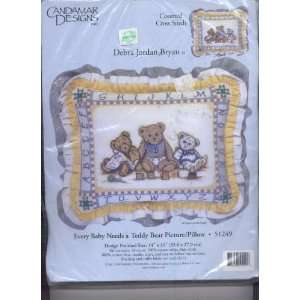 Bryan Every Baby Needs a Teddy Bear Pillow Kit Counted Cross Stitch