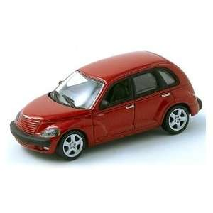 164 Scale Chrysler PT Cruiser 2001 Red Diecast Car Model