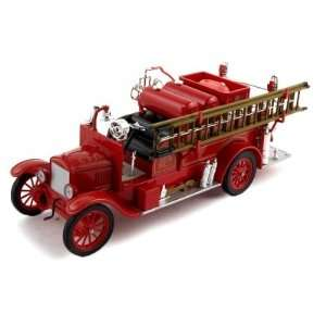 1926 Ford Model T Fire Diecast Model Truck 1/32 Red Toys