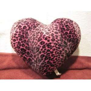 Purple Leopard Print Heart Dog Toy