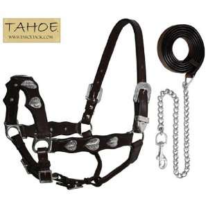Tahoe Tack Silver Heart Full Horse Halter with Lead