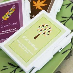Fall for Love Personalized Notebook Favors Health