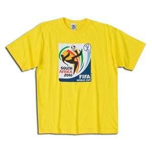 adidas World Cup 2010 Soccer T Shirt (Yellow)  Sports