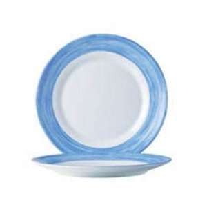 Fully Tempered Arcoroc White Glass Plate With Brushed Blue
