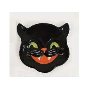 Halloween Black CAT Kitten Plate Candy Dish  Kitchen