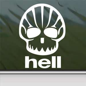 Shell Hell Shaped Face Funny Oil White Sticker Laptop