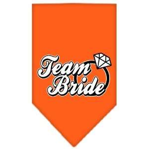 Supplies Team Bride Screen Print Bandana Orange Large