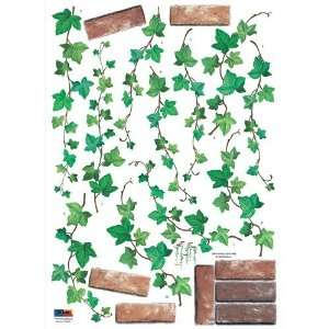 Reusable Decoration Wall Sticker Decal   Hanging Brick Ivy  Toys
