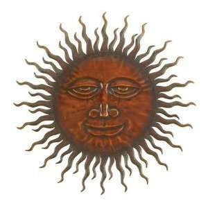 Sweet Smiling Sun Metal Wall Hanging Art 24