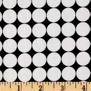 44 Wide Metro Living Dots Black Fabric By The Yard Arts