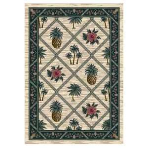 Bay Pearl Mist Country 7.7 ROUND Area Rug