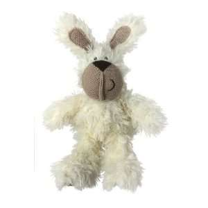 Multipet Burlapper Rabbit Plush and Hemp Dog Toy