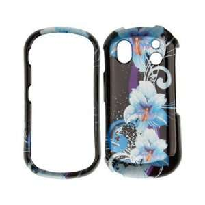 Phone Protector Cover Case Blue Flower For Samsung Intensity II