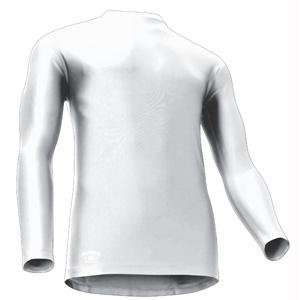 Tight Fit Compression Long Sleeve Mock, X Large, White