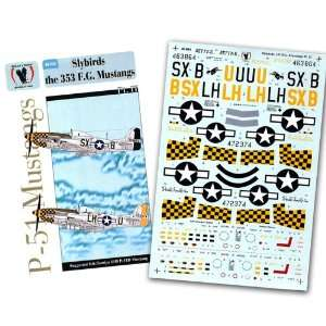 51 Slybirds of the 353 Fighter Group, #2 (1/48 decals) Toys & Games