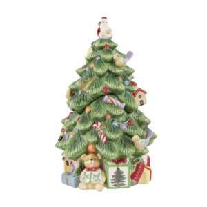 Spode Christmas Tree Sculpted Christmas Tree Shape Covered
