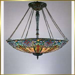 Tiffany Chandelier, QZTF1784VB, 8 lights, Antique Bronze, 40 wide X