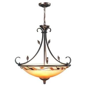 Dale Tiffany TH70543 Garden Leaf Inverted Light Chandelier