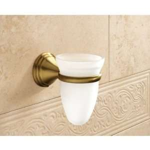 Glass Toothbrush Holder With Bronze Mounting 7510 44