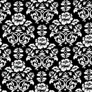 Pimatex Damask in black and white by Robert Kaufman