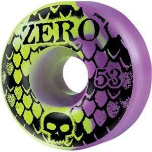 Zero Skull Stencil Snake 53mm Red/Green Skateboard Wheels