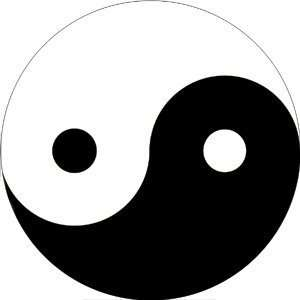 Yin Yang Sticker S 0154 Automotive
