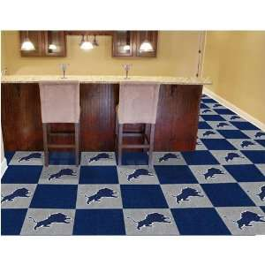 Detroit Lions NFL Team Logo Carpet Tiles Sports