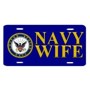United States Navy Wife USN Auto Vanity Front License