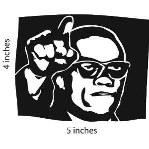 Malcolm X Sticker Cut Vinyl Decal