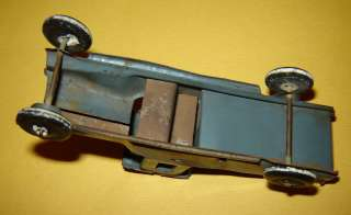 ANTIQUE OLD TIN TOY CAR MILITARY TRUCK 3 3/4 length