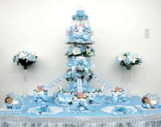 Tier Boys Baby Shower Diaper Cake Centerpiece/Gift/Decorations/Favor
