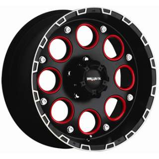 18 inch black red wheels rims 8x170 ford 8 lug truck f250 f350