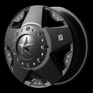Rockstar Matte Black Dually Chevy Dodge Truck Wheels New 8 Lug 8x6.5