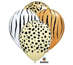 Safari Zebra Leopard Cheetah Jungle Animal Zoo Party 11 Balloon Set