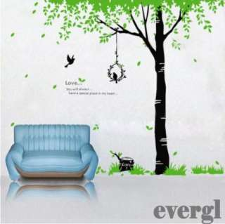 New Birds Song Tree Removable PVC Wall Sticker Home decor Room Decal