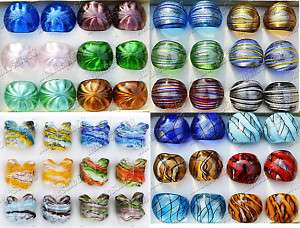 Wholesale Lots 12ps charm murano glass fashion ring new