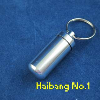WaterProof Mini Aluminum Pill Box Case Bottle Holder Container Key