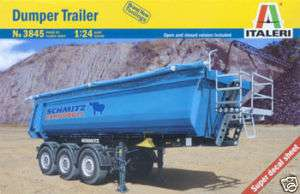 ITALERI 1/24 DUMPER TRAILER SEMI TRUCK MODEL KIT 3845
