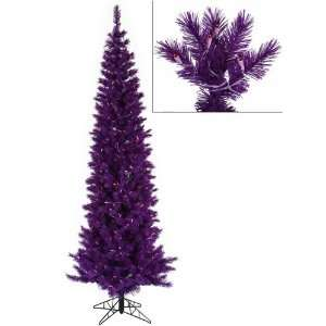 com 10 Pre Lit Purple Ashley Spruce Artificial Pencil Christmas Tree
